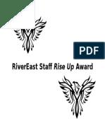 rivereast staff rise up award
