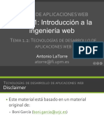 T ECNOLOGÍAS DE DESARROLLO DE APLICACIONES WEB