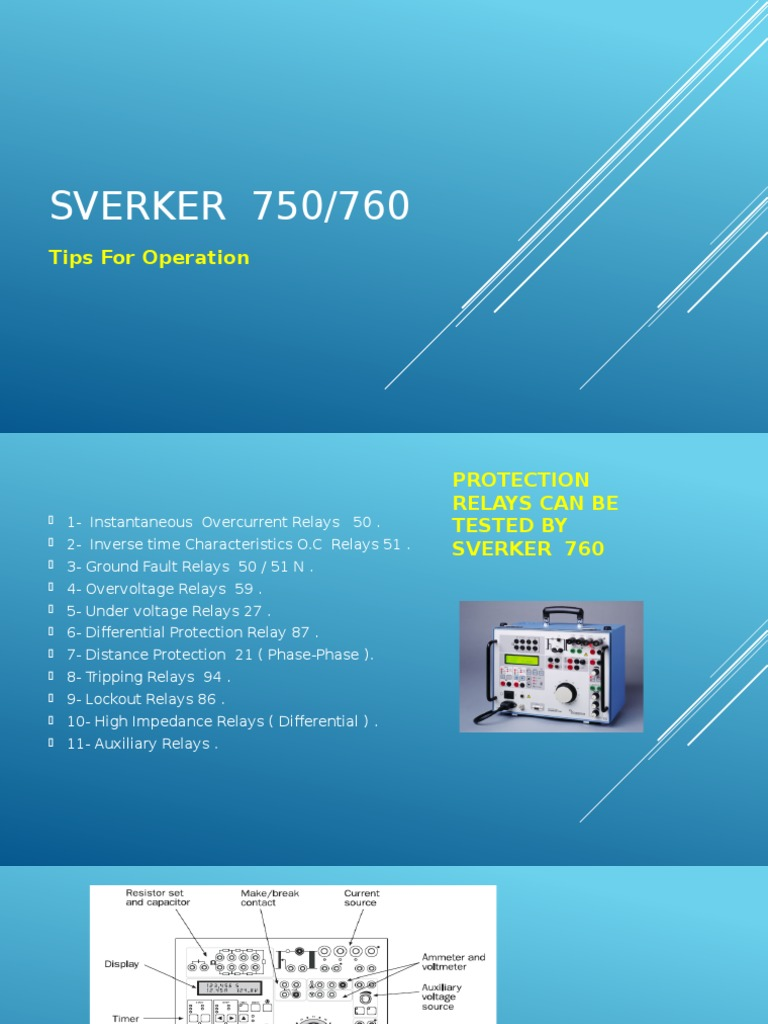 SVERKER 760 Training Course