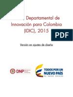 Índice de Innovación Departamental Para Colombia