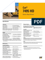 7495HD Pala Eléctrica de Cable Caterpillar