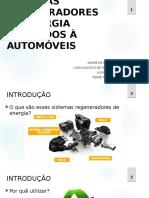Atualizado - Sistemas Regeneradores de Energia Aplicados à Automóveis