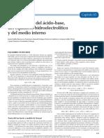 Fisiopatología del ácido-base, del equilibrio hidroelectrolítico y del medio interno