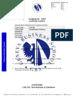 Answer Sheet Grid CSS 103