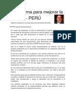 La Reforma Para Mejorar La Política en el Perú