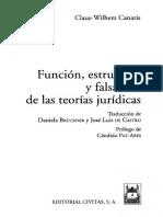 FUNCION, ESTRUCTURA Y FALSACION DE LAS TEORIAS JURIDICAS - Claus-Wilhem Canaris (1).pdf