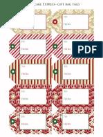 Christmas Tags Dressy