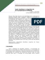 Interpretação Simultânea e a Linguística de Corpus Na Preparação Do Intérprete Carla C. Lima Nejm (Universidade de São Paulo)