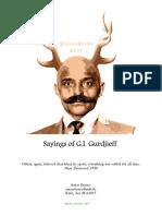 Sayings of G.I. Gurdjieff