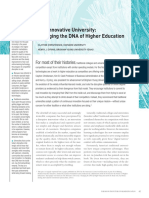 The Innovative University-Changing the DNA of Higher Education