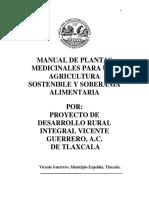 Manual de Plantas Medicinales Del Gvg