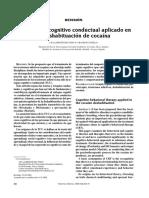 Tratamiento Cognitivo Conductual Aplicado en La Deshabituación de Cocaína