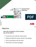 ACS800 Control Panel Operation