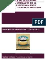 Instrumentos de Evaluación Psicológica Utilizados en El Estudio