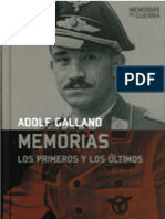 Los Primeros y Los Ultimos Memorias Adolf Galland Ed1955 Comp