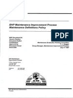 BHP Maint Improvement Process