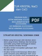 Struktur Kristal Nacl Dan Cscl