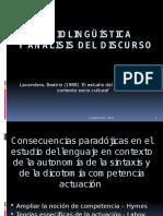 Sociolingüística y Análisis Del Discurso