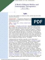 Homeopathic Materia Medica of Apis by Allen´s Handbook