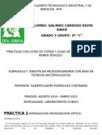 Practicas Con Lista de Cotejo y Guias 3ro c Galindo Cardoso Kevin David