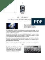 "Suplemento Nº 1 Revista Pepe Rosa ""El 1° de Mayo"""