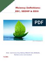 Energy Efficiency Definitions EEDI SEEMP EEOI
