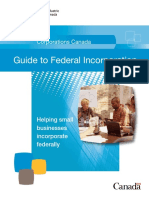 Guide Federal Incorporation