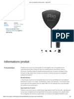 Micro Et Interface IRig Acoustic - Apple (FR)