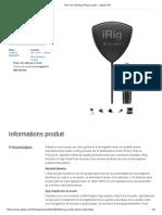 Micro Et Interface IRig Acoustic - Apple (FR)