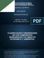 Clasificacion y Propiedades de Los Compuestos Inorganicos y Su Impacto Economico y Ambiental