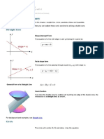 Conic Sections - Summary