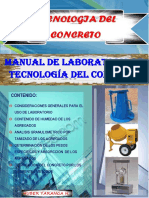 Manual de Laboratorio de Tecnologia Del Concreto
