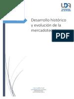 Desarrollo Histc3b3rico y Evolucic3b3n de La Mercadotecnia