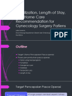 AGLLSS_Day3_Mobilization, Length of Stay, And Home Care Recommendation for Gynecologic Surgery Patients