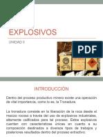 Explosivos - Unidad II
