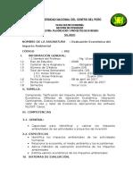 Silabo Evaluacion Economica Impacto Ambiental 2017-1