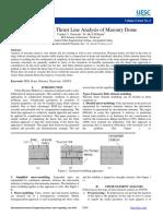 6b9108e5678cfbe7cbd3f85d8987863b.finite Element Thrust Line Analysis of Masonry Dome