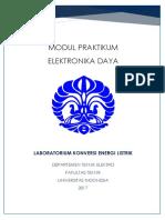 Modul elektronika daya 2017 - copyright lab konversi Teknik Elektro FTUI