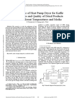 Performance of Heat Pump Dryer for Kaffir Lime Leaves and Quality of Dried Products Under Different Temperatures and Media