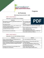 Programa de Ponencias Encuentro MKT