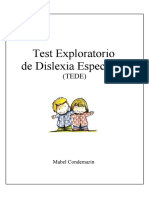 TEST EXPLORATORIO DE DISLEXIA ESPECIFICA
