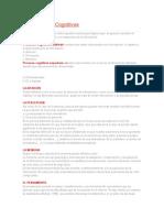 Los Procesos Cognitivos. PEDAGOGICOS Docx