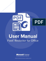 Foxit Redactor for Office User Manual.pdf