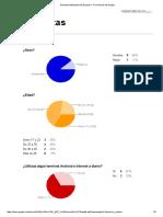 Encuesta y resultados sobre gráficos.