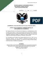 Manual de Procedimientos Academicos