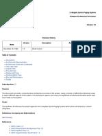 CSPS Software Architecture Document 1.0