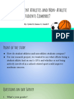 how do student athletes and non- student athlete student compare