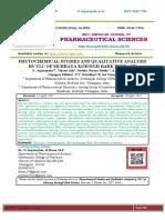 PHYTOCHEMICAL STUDIES AND QUALITATIVE ANALYSIS BY TLC OF MURRAYA KOENIGII BARK EXTRACT