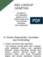 Ruang Lingkup Genetika 1
