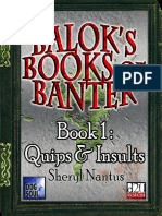 d20 Dog Soul Balok's Books of Banter Book 1 - Quips & Insults